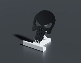 Punisher Skull Smartphone Stand 3D print model