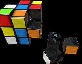Rubic Cube PBR 3D asset VR / AR ready