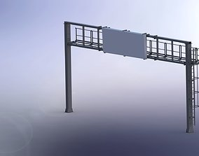 Portal frame and traffic signs 3D