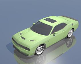 3D asset rigged Dodge Challenger SRT Hellcat 2015
