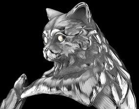 3D print model resizable cat ring