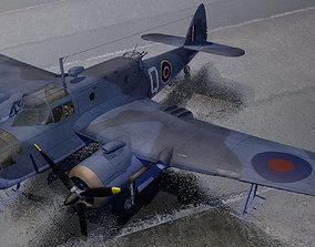 3D model Bristol Beaufort Mk-2A