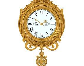 3D model pendulum wall clock