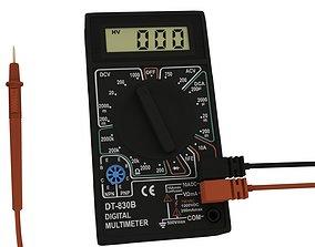 dt-830b DT-830B Digital Multimeter 3D model