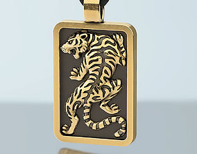 jewelry Tiger pendant for men 3D printable model