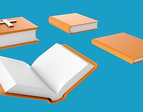 Books including bible 3D asset