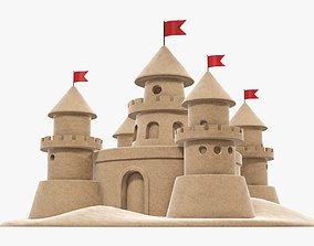 3D model PBR Sand castle