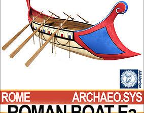 Ancient Roman Boat Ea 3D model