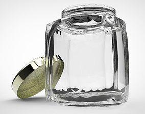 3D asset Glass jar with lid