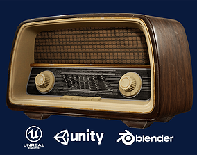 Old Radio 3D model game-ready