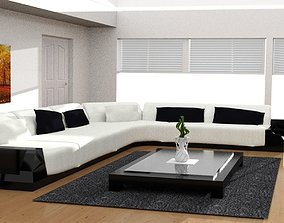 Living Room Modern Style 16 3D model