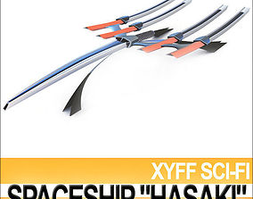 3D model Xyff Sci Fi Spaceship Starfighter Hasaki