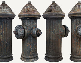 3D asset realtime Fire Hydrant