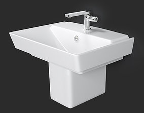 3D model Wall-mount Bathroom Sink REVE