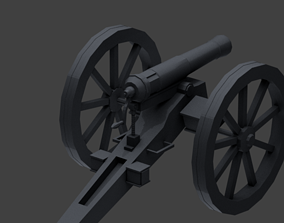 3D model realtime FRENCH 1870 CANNON