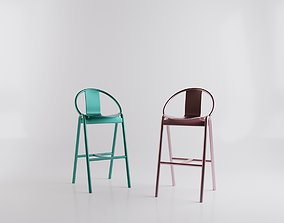 3D model Metal Barstool