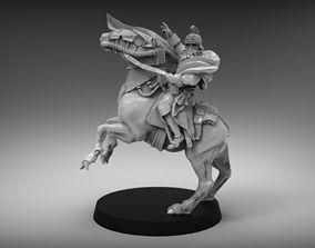 Sci-Fi Napoleon on horse miniature 3D printable model