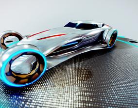 Mercedes-Benz Silver Lightning 3D asset