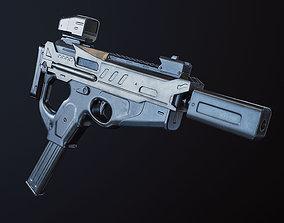 3D model SMG gun SCI-FI