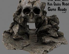 3D asset realtime Skull Cave steps