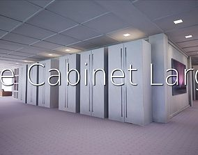 3D model game-ready File Cabinet Large SHC Quick Office LM