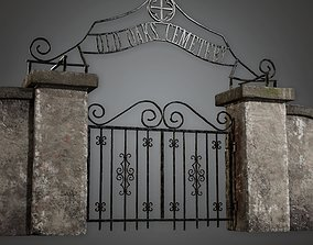 3D model Cemetery Gate 2 - CEM - PBR Game Ready