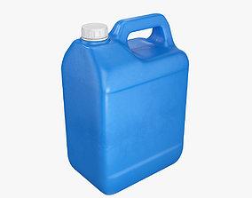 3D Plastic container blue 02