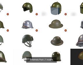 3D 7 Helmets Pack