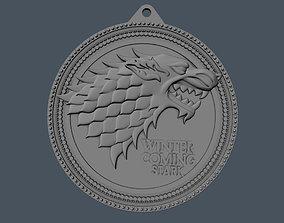 House Stark Wolf Medallion 3D print model fantasy