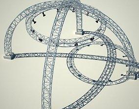 3D model Metallic structure truss 01
