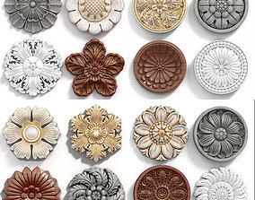 game-ready Decorative Wall Rosettes model 02