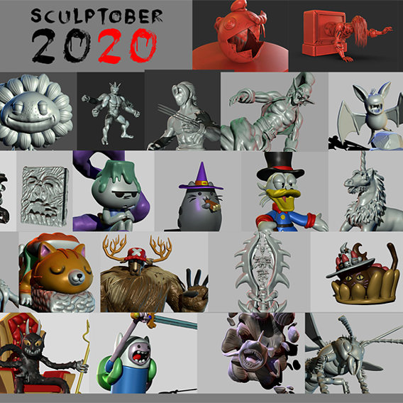 Sculptober 2020 Full  Collection
