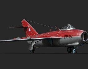 mig-17 Czech 3D asset low-poly