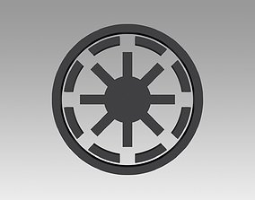3D print model Galactic Republic Galactic Empire symbol 1