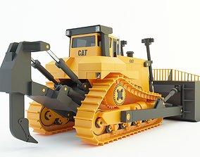 yellow cat bulldozer 3d model