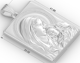 3D printable model mary and jesus
