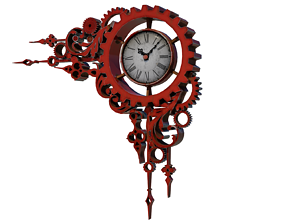 other 3D model realtime Steampunk Clock