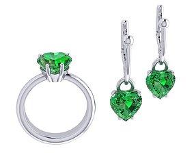 3D print model Ring boutique Heart set