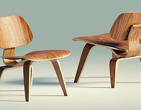 Eames Lounge Chair Wood LCW 3D asset