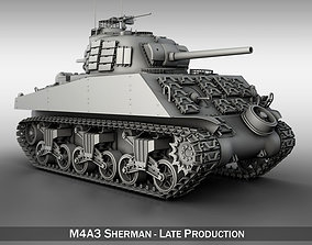 3D model M4A3 Sherman - Pacific theater military