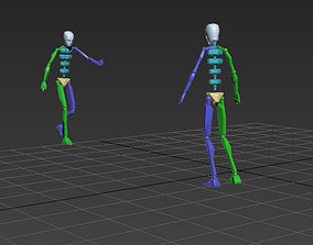 3D animated punch to stomach