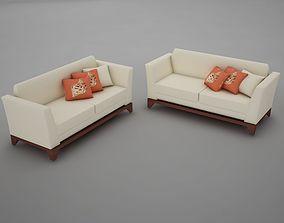 sofa pool modern tropic 3D model