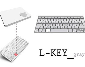 3D printable model L-Key Gray