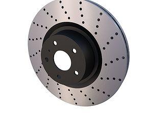 3D asset Sport Ventilated Brake Disk