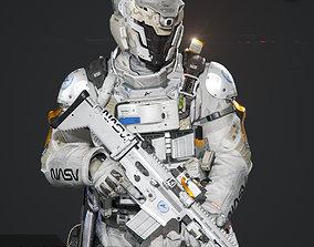 SCIFI - SPACE SOLDIER 3D asset