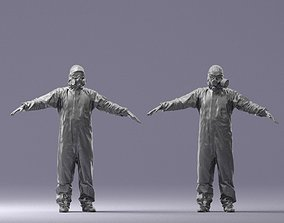 orderly Hazmat suit man T-pose 0329-2 3D Print Ready