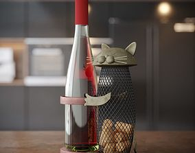 3D model Wine Holder With Cat