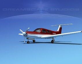 3D model Piper PA-28R-201 Arrow III V08
