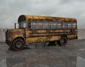 destroyed bus 004 am165 3D