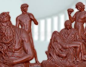 4 Sculptures by Michelangelo - 3D models Renaissance